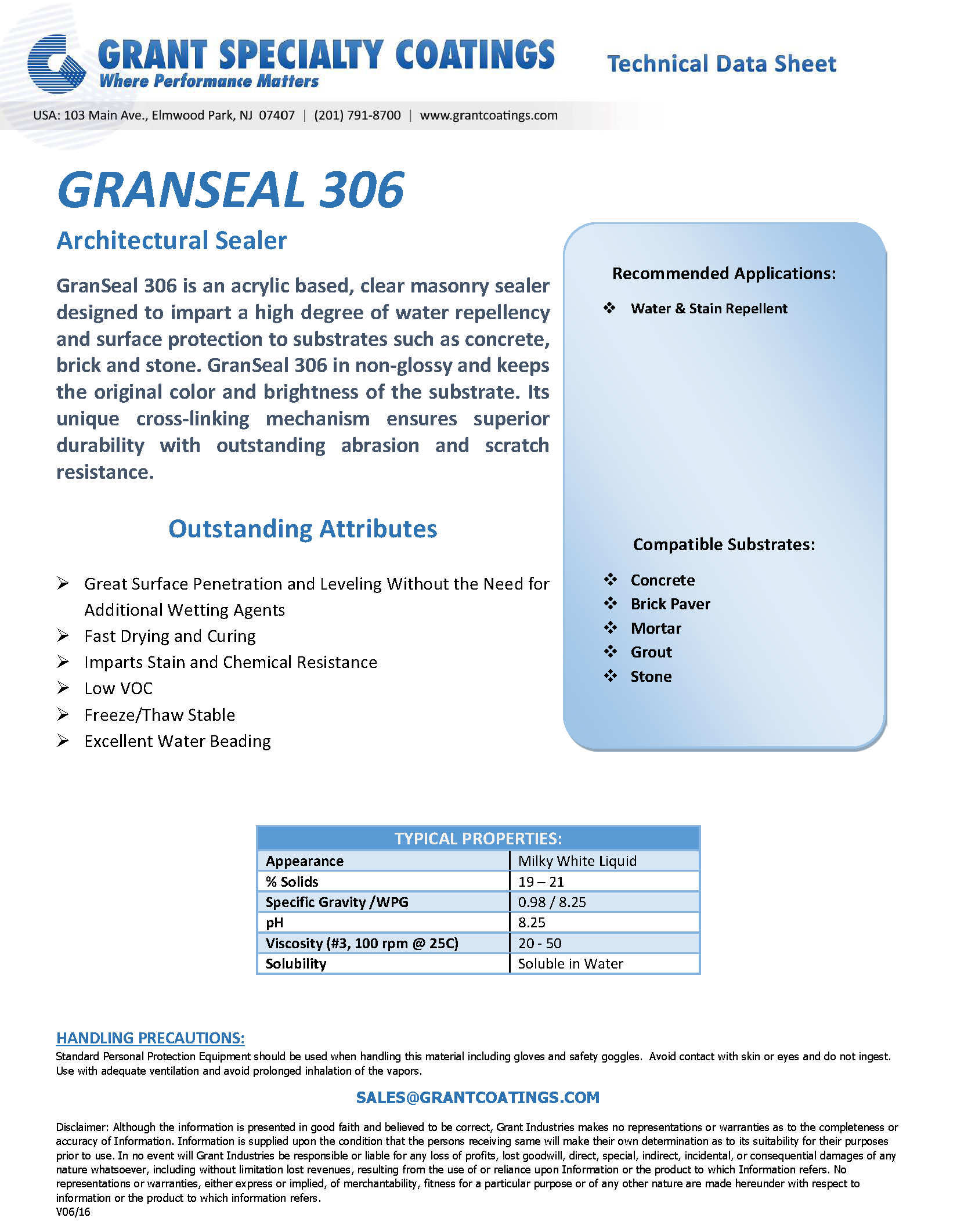 Architectural Sealer Clear Non-Glossy