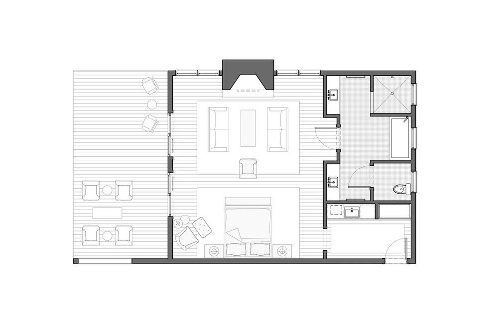 Wisconsin King Suite Floor Plan