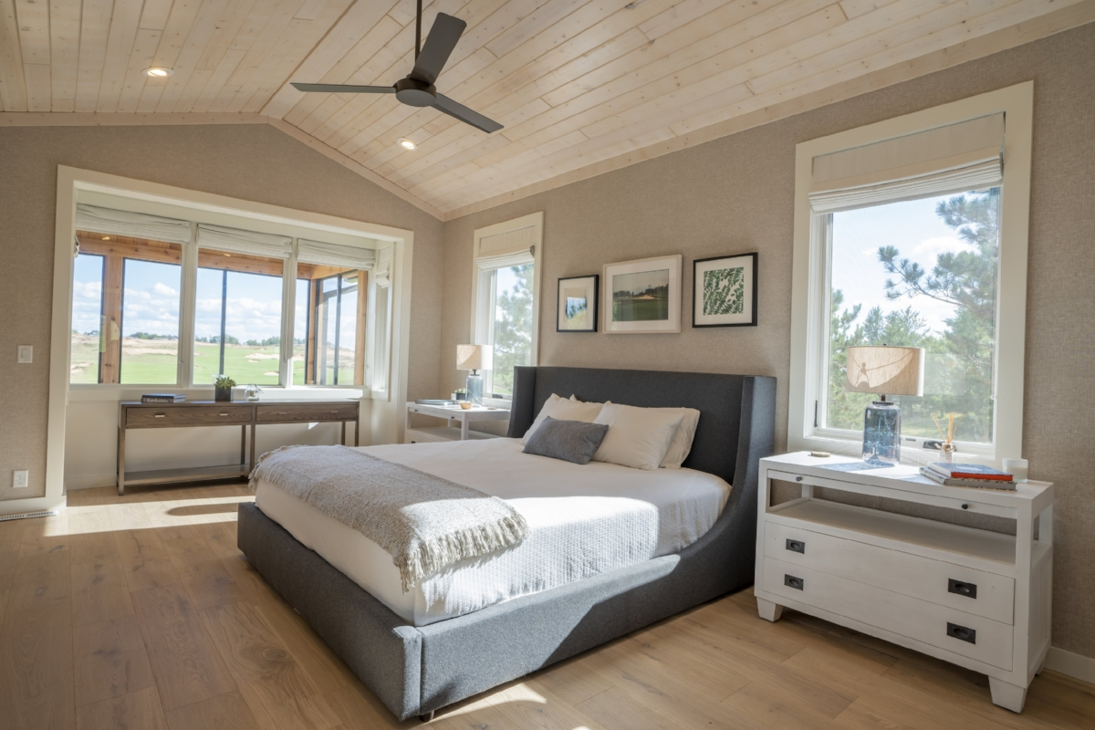 Crenshaw Cabin Bedroom with View