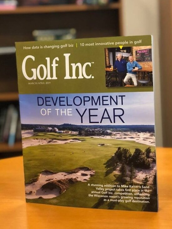Mammoth Dunes on the cover of March/April 2019 edition of Golf Inc. Magazine