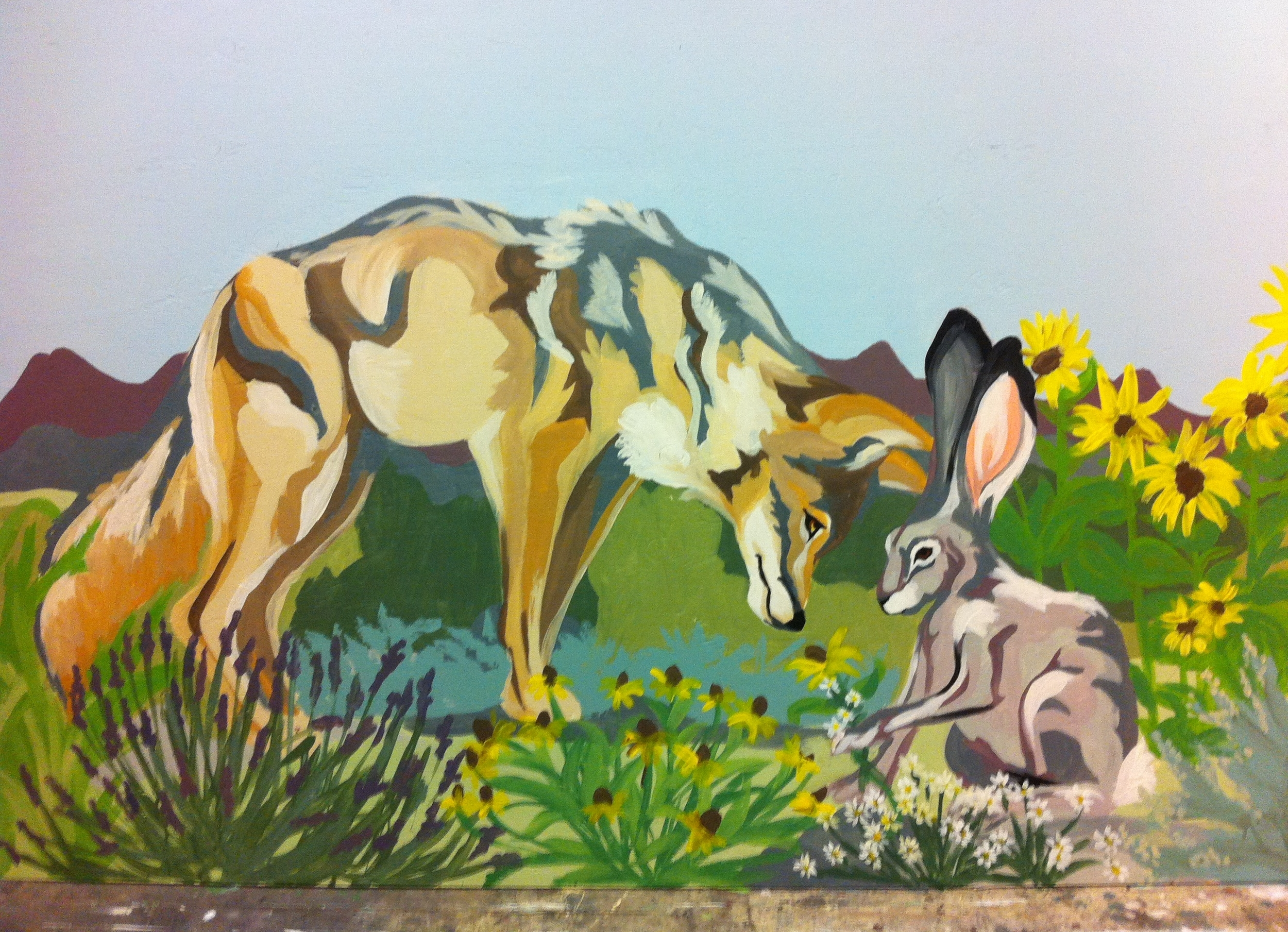 """Smell"" from KTMB Sensory Garden Mural"
