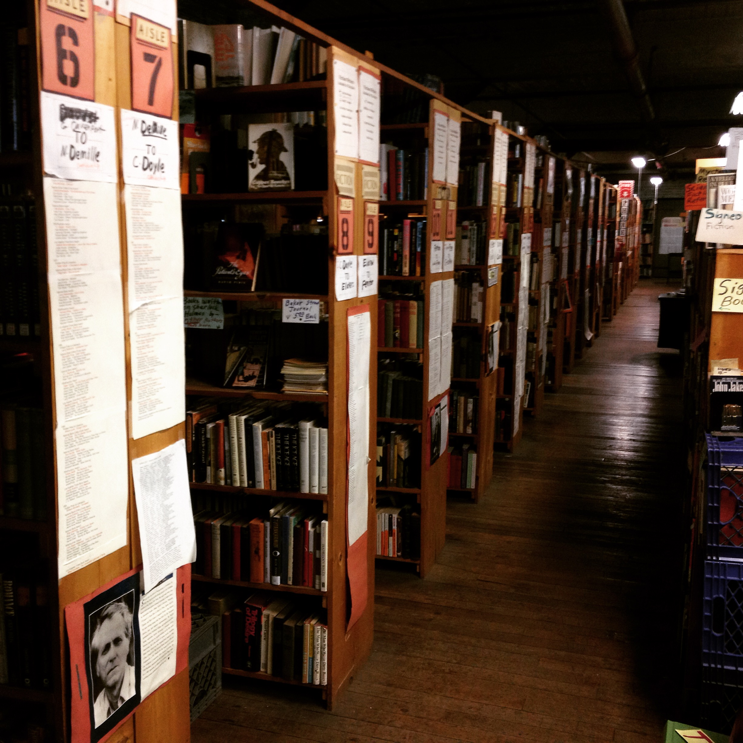 The Fiction Section at John K. King Books - Detroit, Michigan