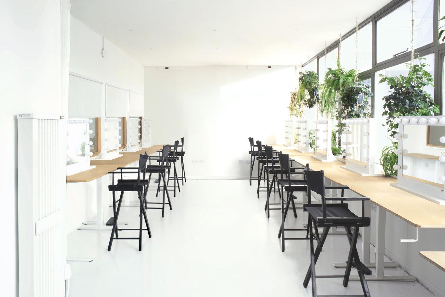Make-up school, Workshop, Teaching set up in Workspace at The Brighton Studio