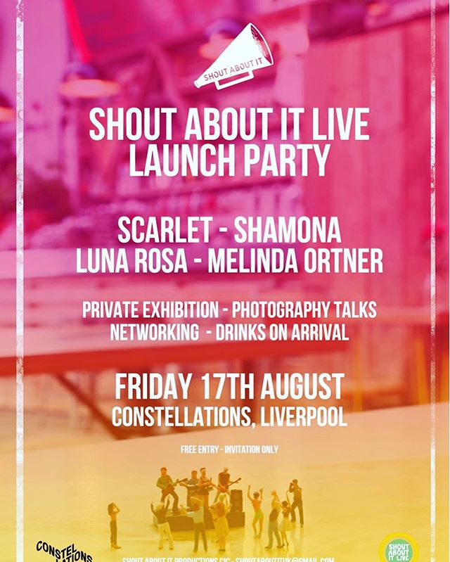 So stoked to be one of the main acts for the Shout About It Launch Party in LIVERPOOL 😀never been there before. Looking for a place to crash! It's August 17. Anyone know a local there?? 🙈#shoutaboutit #festival #ukfestival #liverpool #livemusic #artists