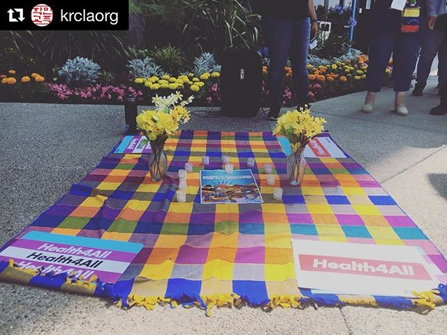 Continuing our fight for #health4all with @krclaorg  and other amazing orgs!  #Repost @krclaorg ・・・ Korean Resource Center along with so many different organizations such as @caimmigrant @upliftourlives @todec @seiuuhw  and more are gathered today in front of Assembly Speaker Anthony Rendon's office to hold a vigil for lives lost and the ongoing suffering of undocumented immigrants without access to healthcare. Healthcare is a human right that should be accessible to all. Please call your state representatives to vote yes on #Health4All #SB29 #AB4 #Health4AllElders