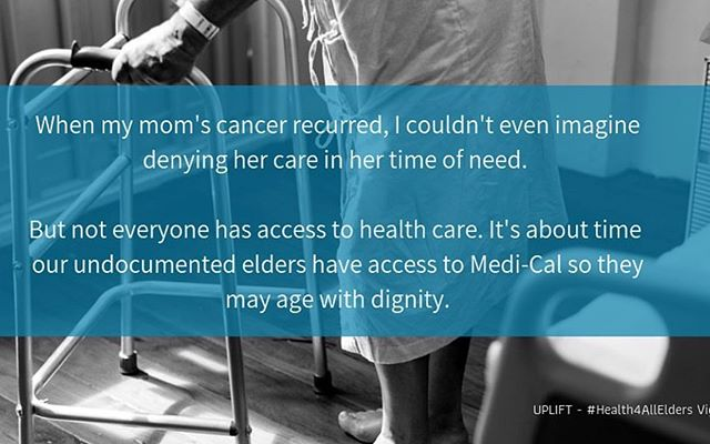 Thank you to our members for sharing their story highlighting the importance of healthcare access to our elders 🚑🏨👩🏿‍⚕️💙 #Repost @hectorplascencia_ ・・・ RESPECT AND DIGNITY #UndocumentedElders consistently put the needs of others above their own. As California discusses the next steps towards universal health care, it is a betrayal to leave behind our most vulnerable communities, especially the elderly. Our policymakers must ensure needed services for all our elders, including undocumented Californians. #Health4All #HealthJustice #UniversalHealthCare #HealthcareIsAHumanRight
