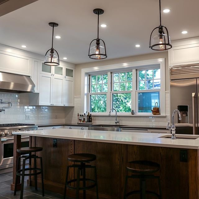 The natural light compliments this spacious and functional kitchen