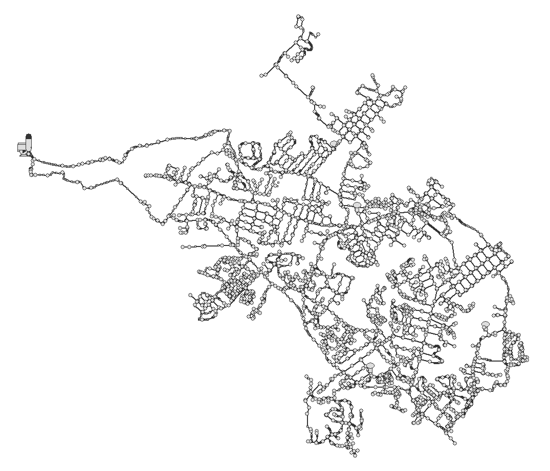 The above illustration is a piping network as seen in our surge analysis program.