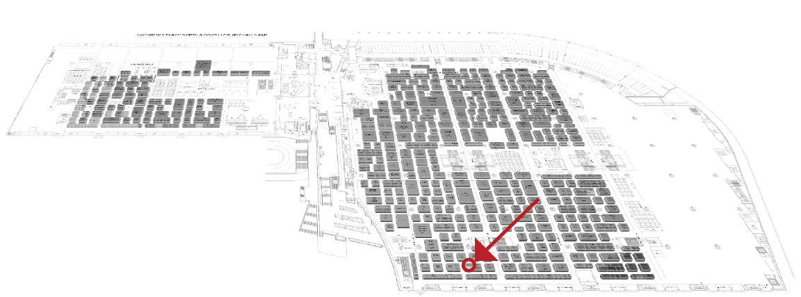 WEFTEC 2019 Map - PULSCO Booth Greyscale.png