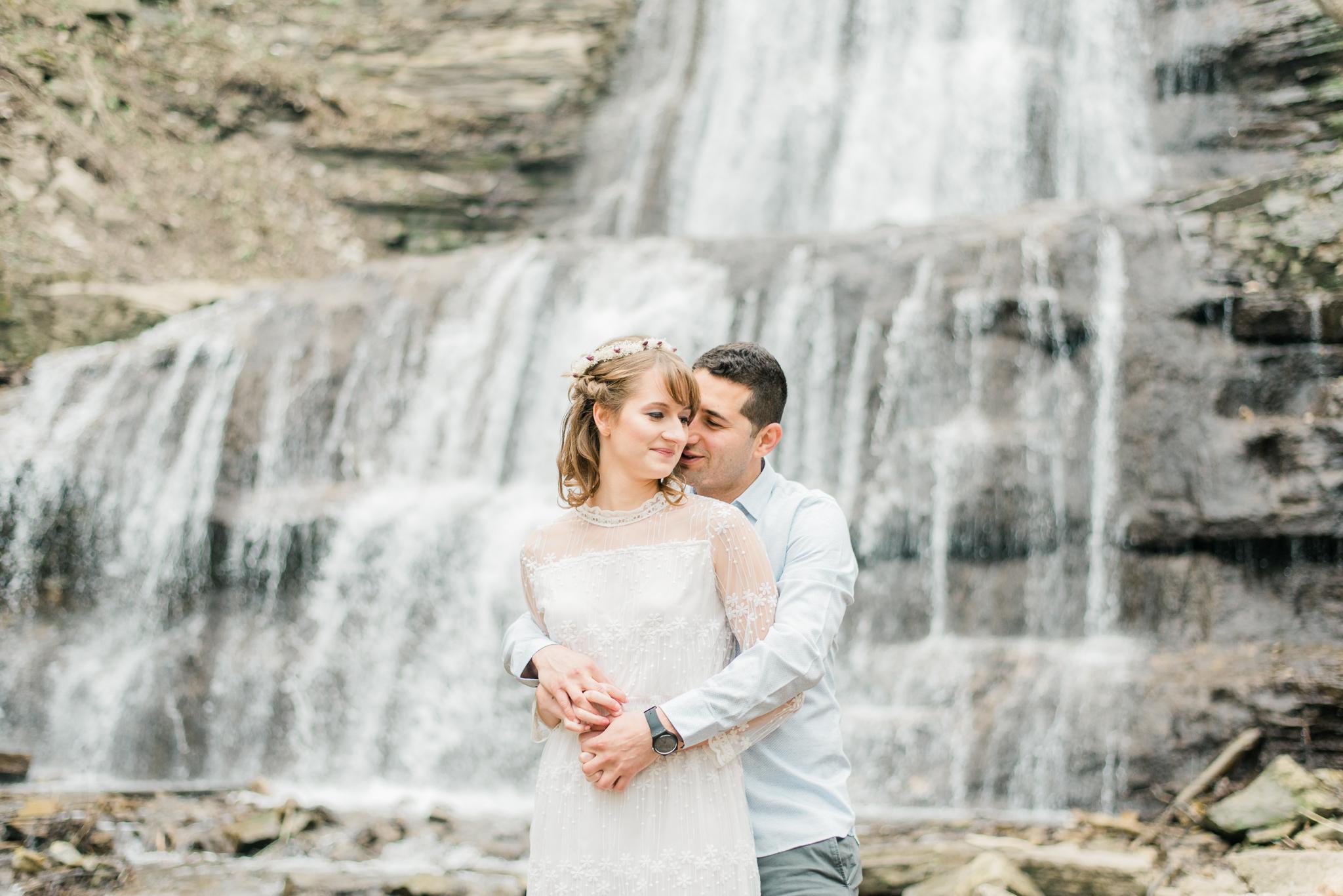 Sherman Falls Engagement Photos