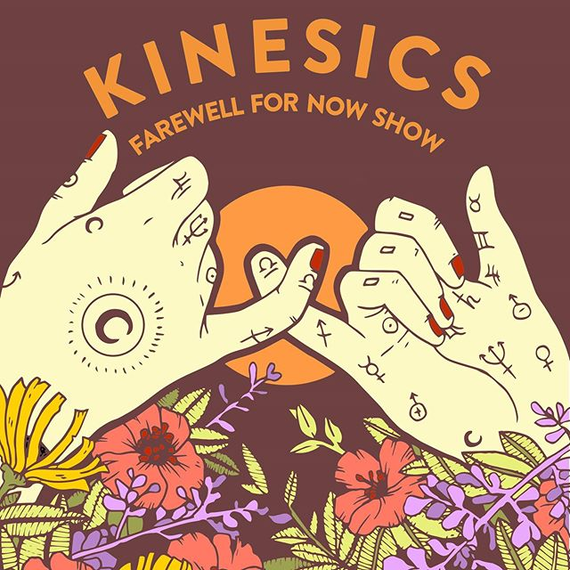 Eep! We love this poster by @doggedlinedesignsupply. ♥️ We will have 3 different limited posters for sale at our Farewell Show next Thursday! Get your tickets through the link in our bio or Venmo $12 to @ kinesics.