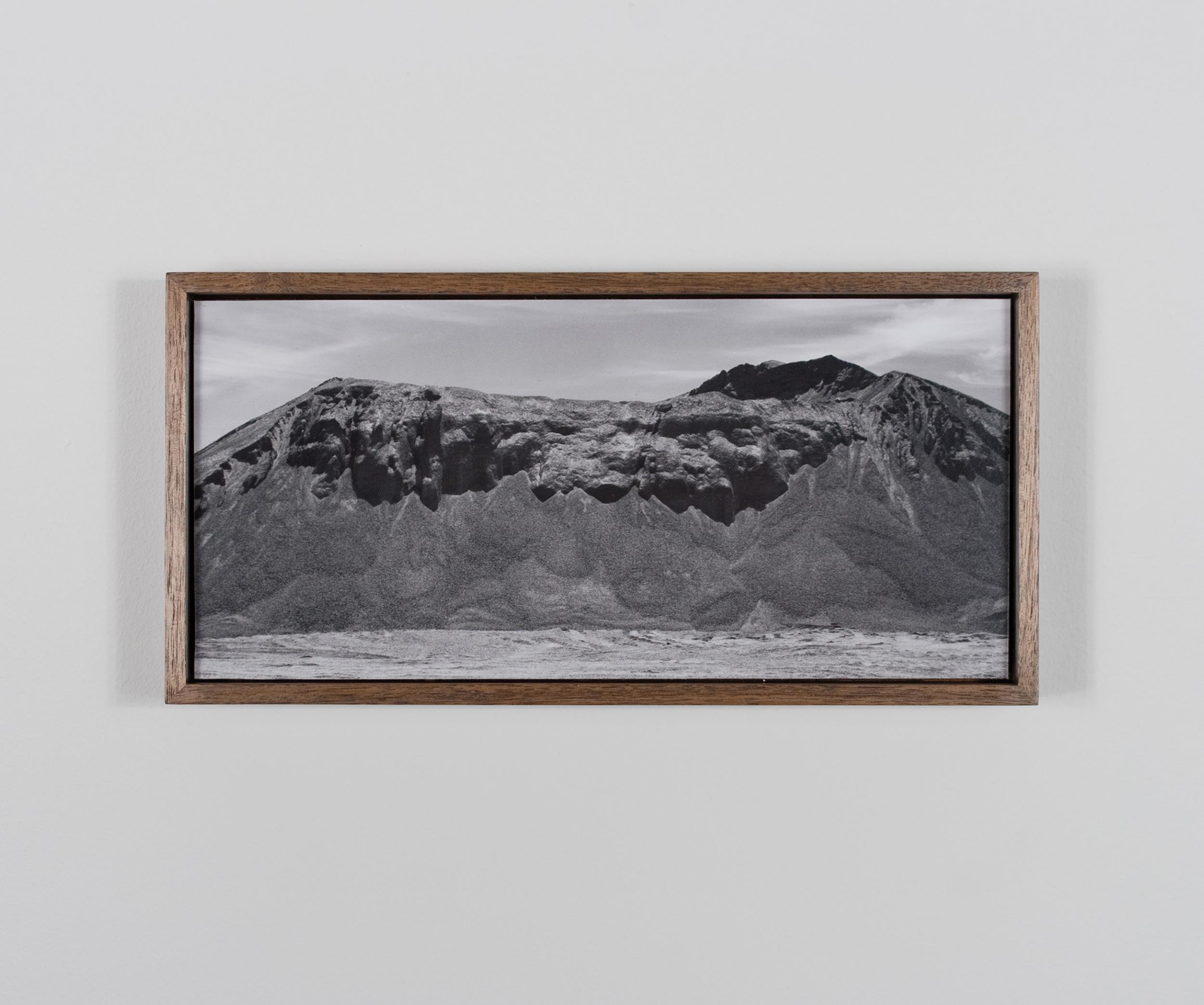 Mistryst Butte 2009/10 Gelatin-silver print on Dibond, with walnut frame