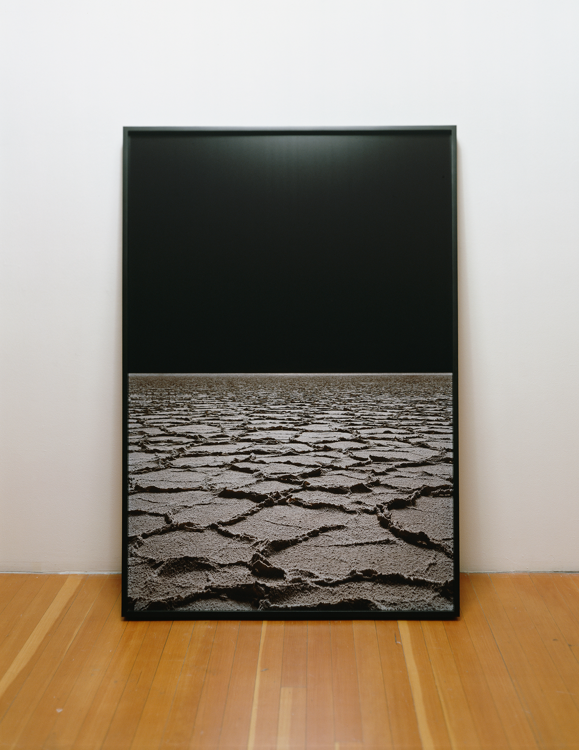 Black Mountain Detatchment: Two Nights, From Waxing to Fully Stated 2008 chromogenic print on Dibond, with painted poplar trapezoidal frame (fa ç ade view)