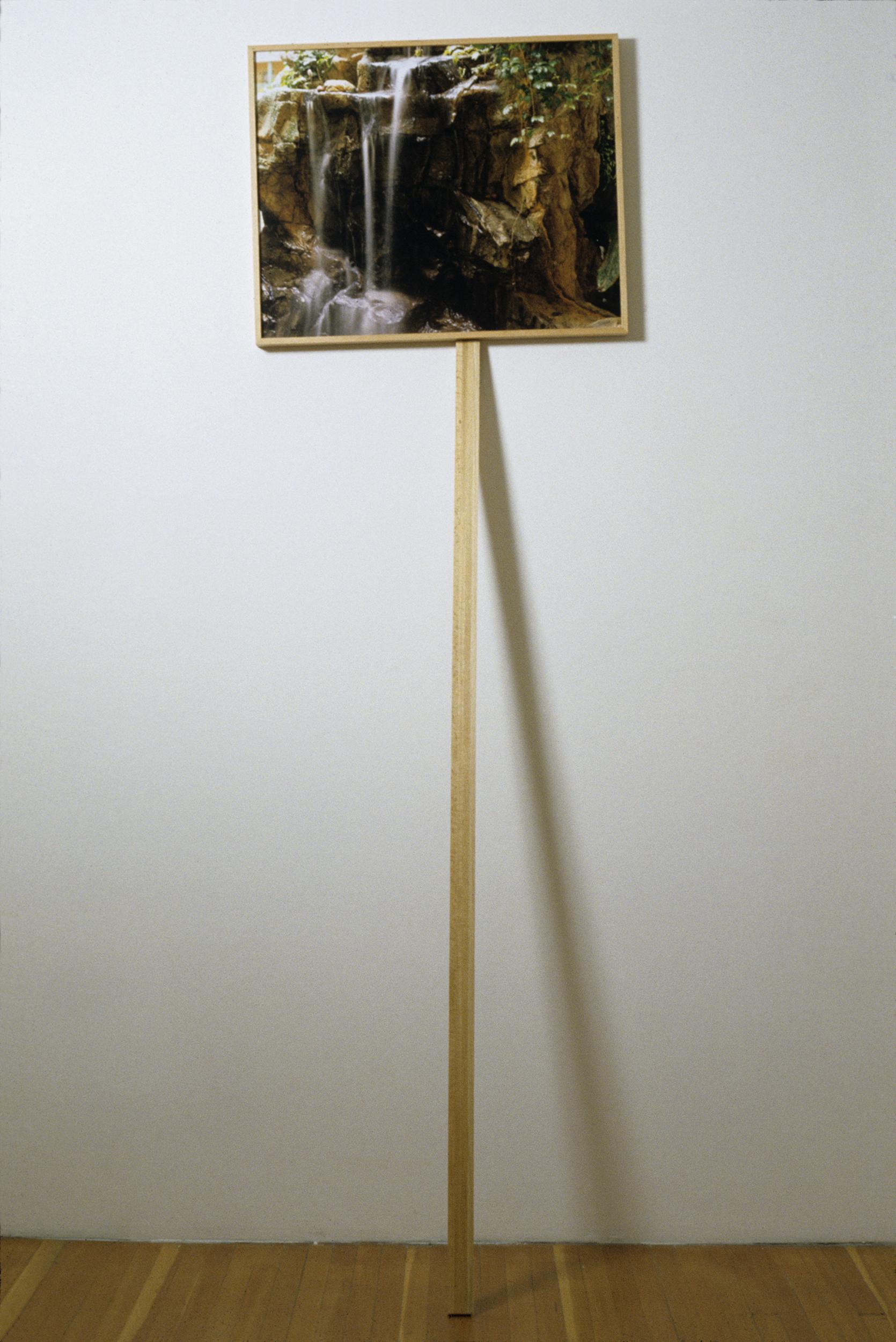 Unfolding 2007 chromogenic print on acrylic with oak frame and post