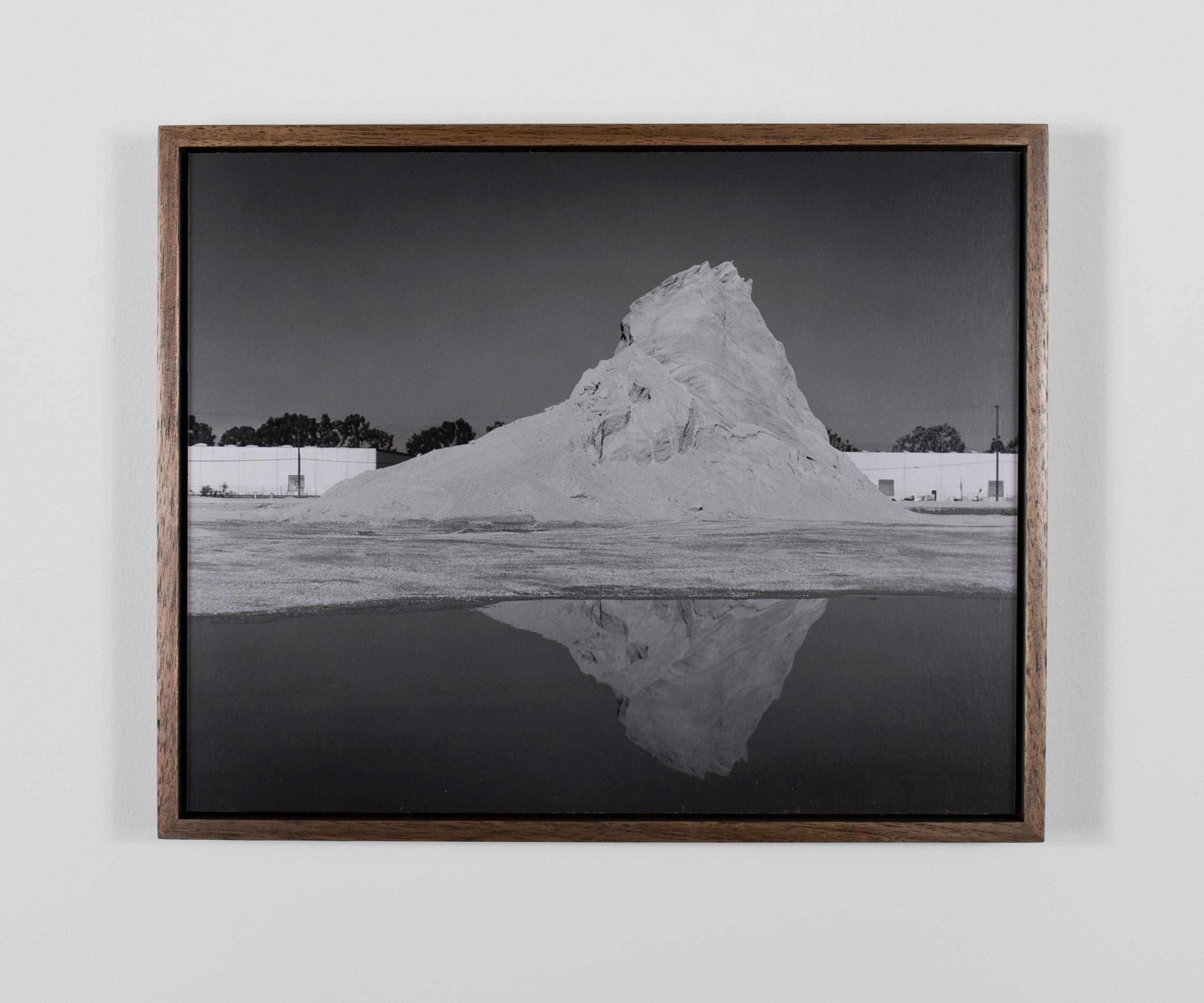 Mount Chaperone overlooking Lake Ullage 2009/10 Gelatin-silver print on Dibond, with walnut frame