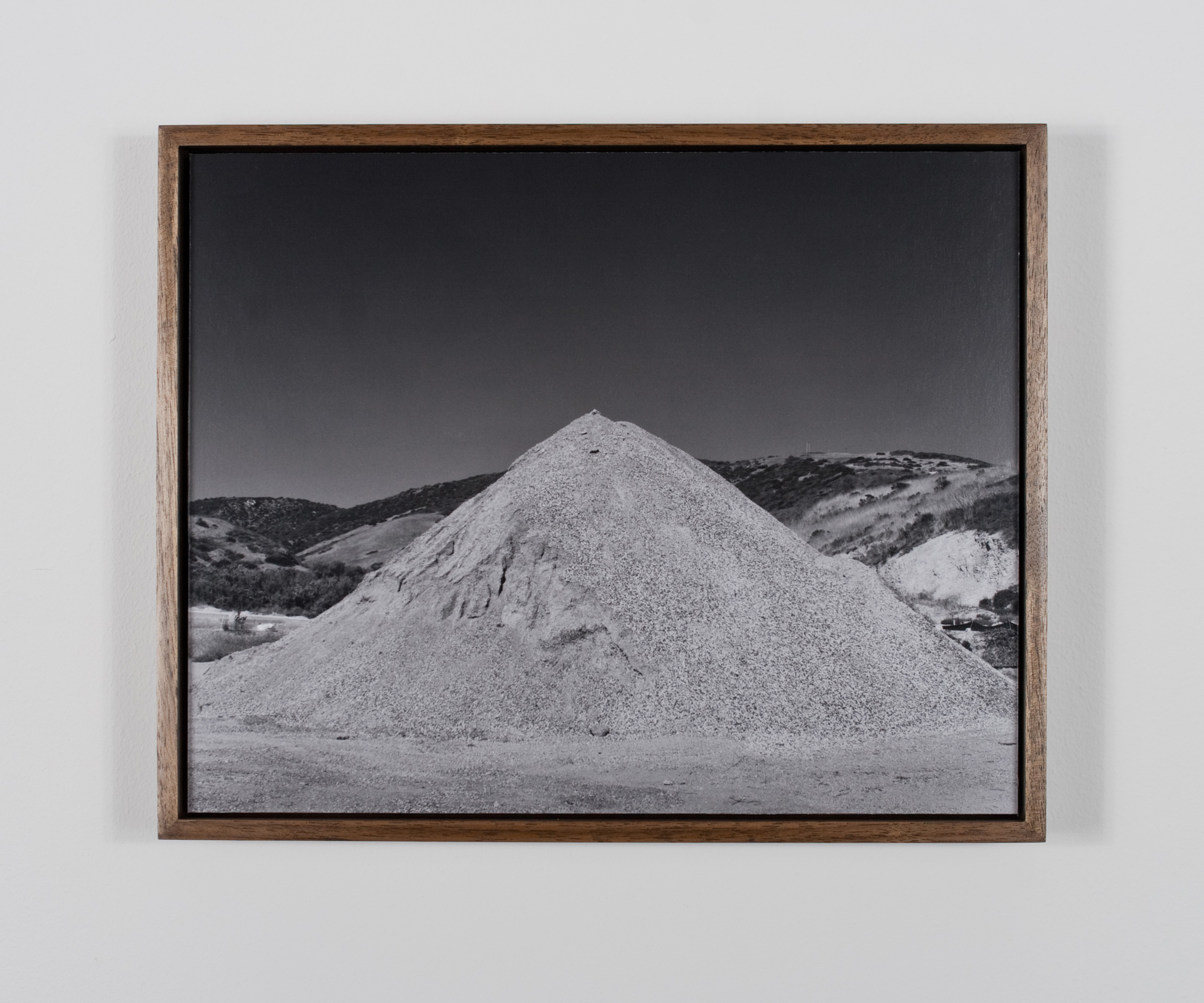 Pico de Arco (aka Arco Lagona) 2009/10 Gelatin-silver print on Dibond, with walnut frame