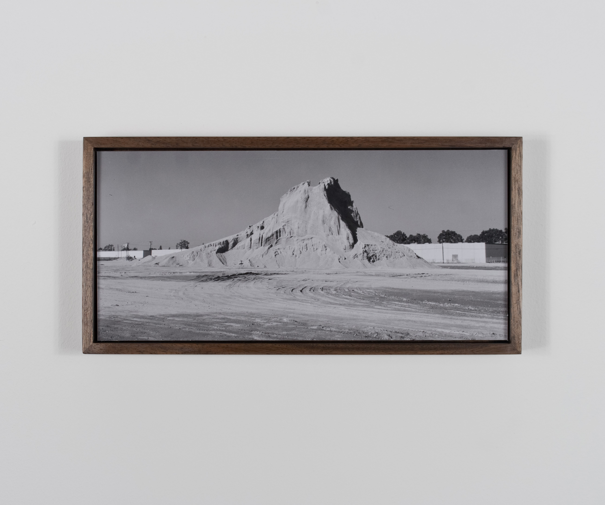 Mount Chaperone (north face) 2009/10 Gelatin-silver print on Dibond, with walnut frame