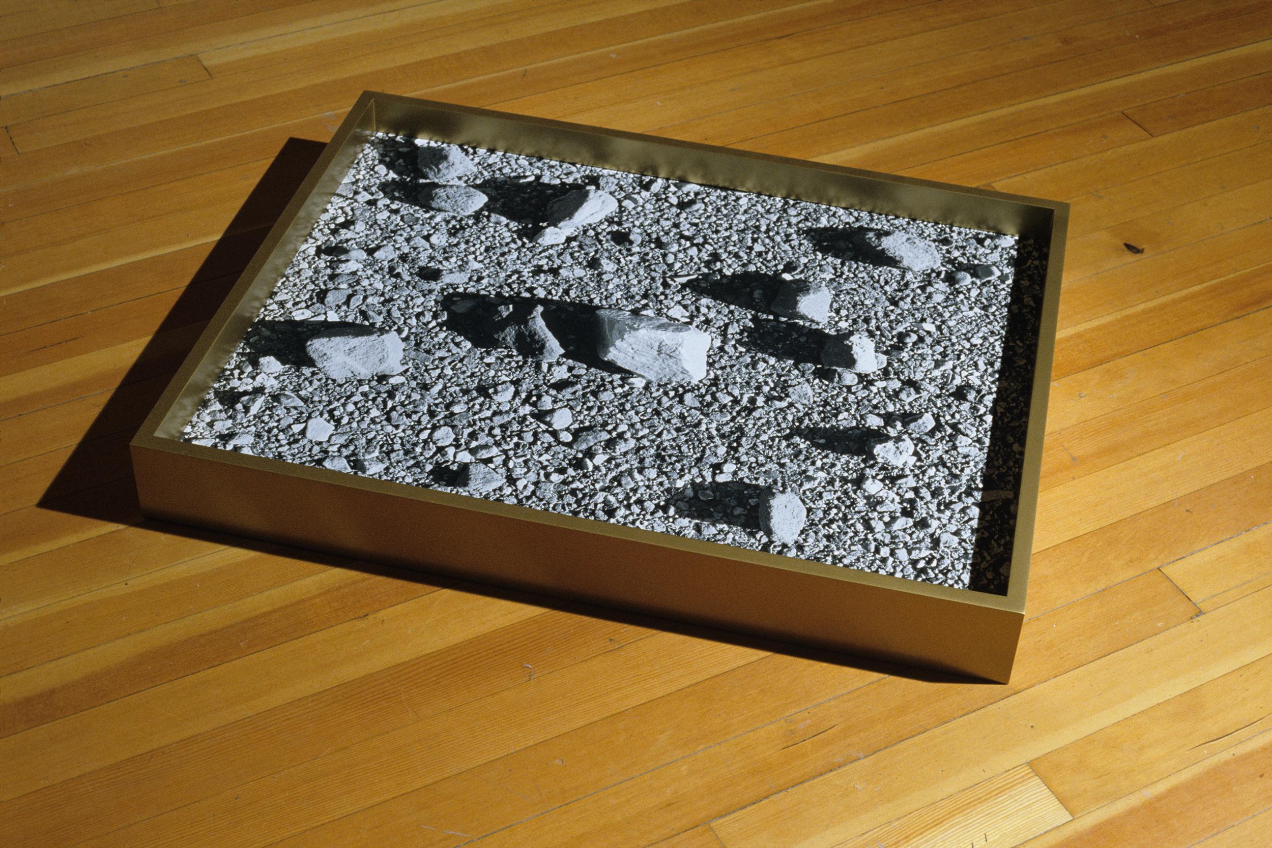 Malory's Cradle 2007 gelatin-silver print on acrylic with enamel on poplar frame