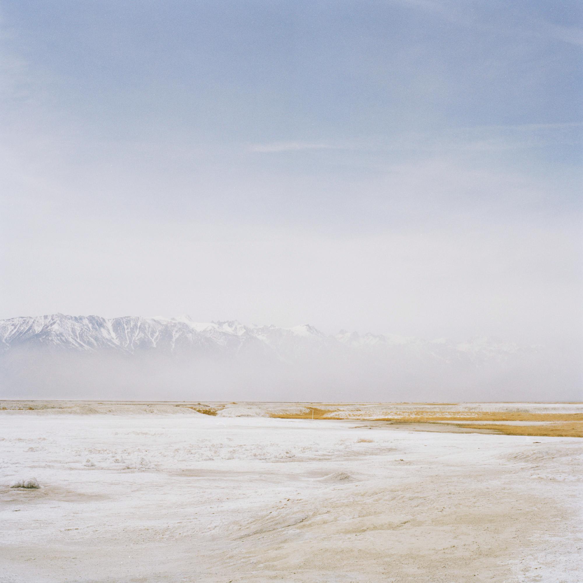 Fare Buoyantly (Owens Dust) 2006 chromogenic print on acrylic with enamel on acrylic frame