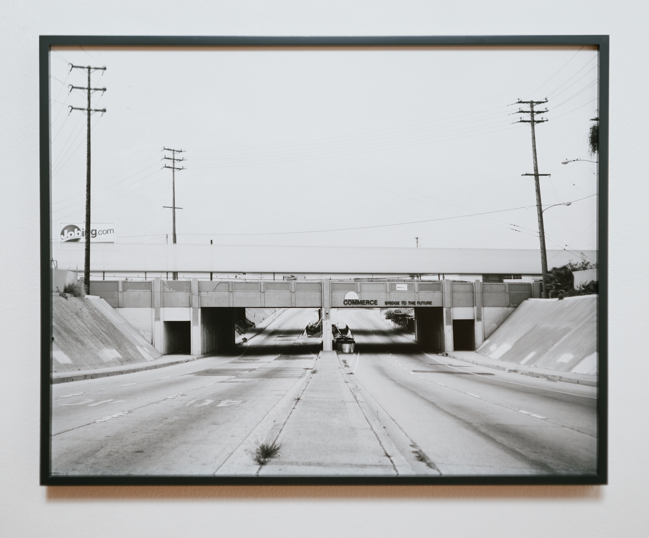 Atlantic Crossing (Bridge to the Future) 2007 gelatin silver print on Dibond with maple frame