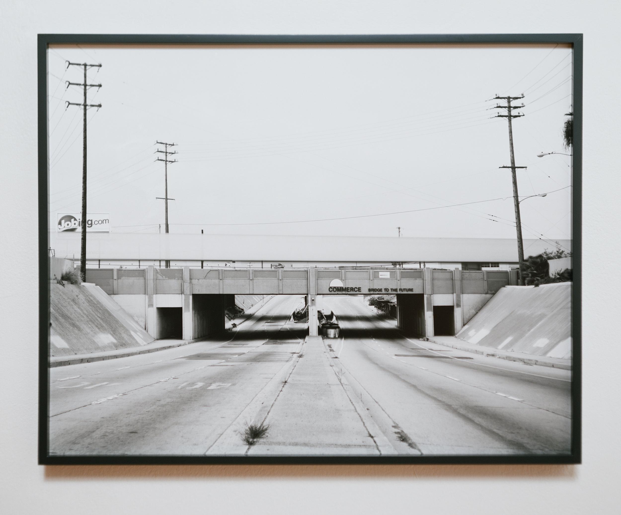 Atlantic Crossing (Bridge to the Future) 2007 gelatin silver print on Dibond with maple frame