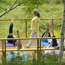 Group Classes   Group classes are offered weekly at Shanti Vana and arrangements can be made to bring Beata to your yoga studio, institution, or other large group.