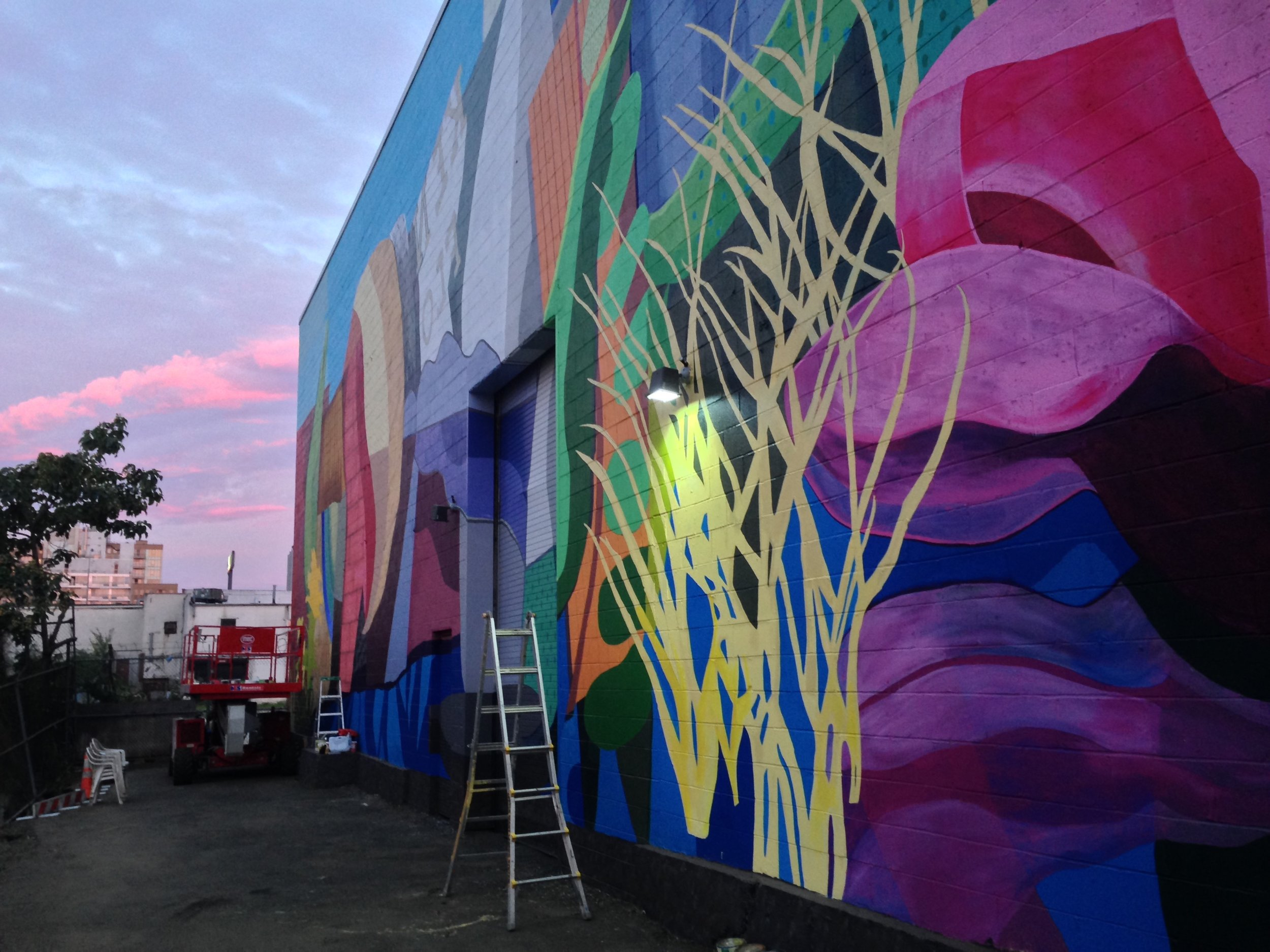 Gowanus: Industry Meets Ecology Mural (IN PROCESS)