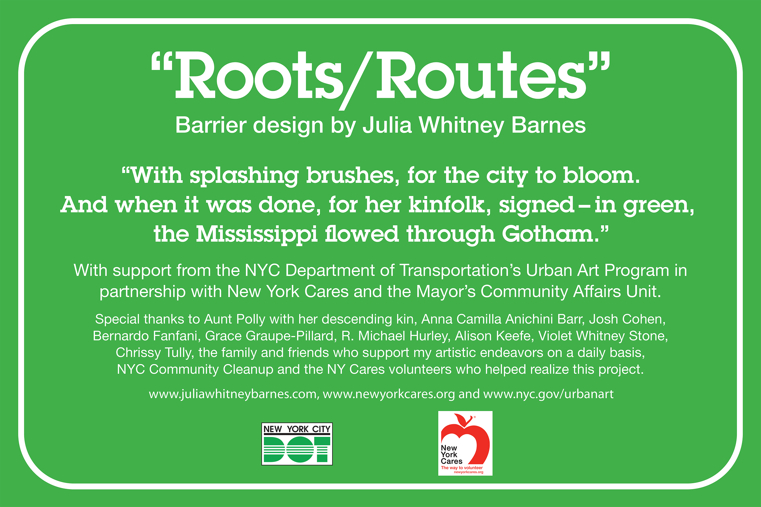 Roots/Routes (signage)