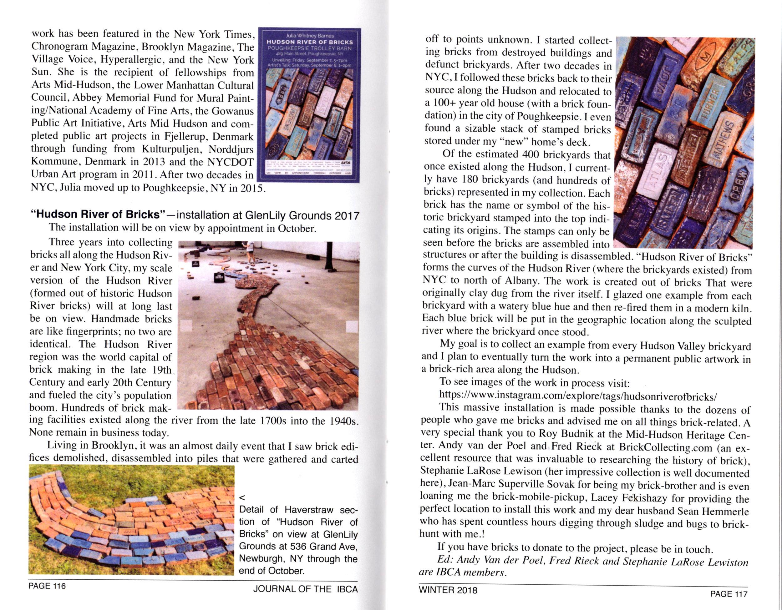 Journal of the International Brick Collectors Association