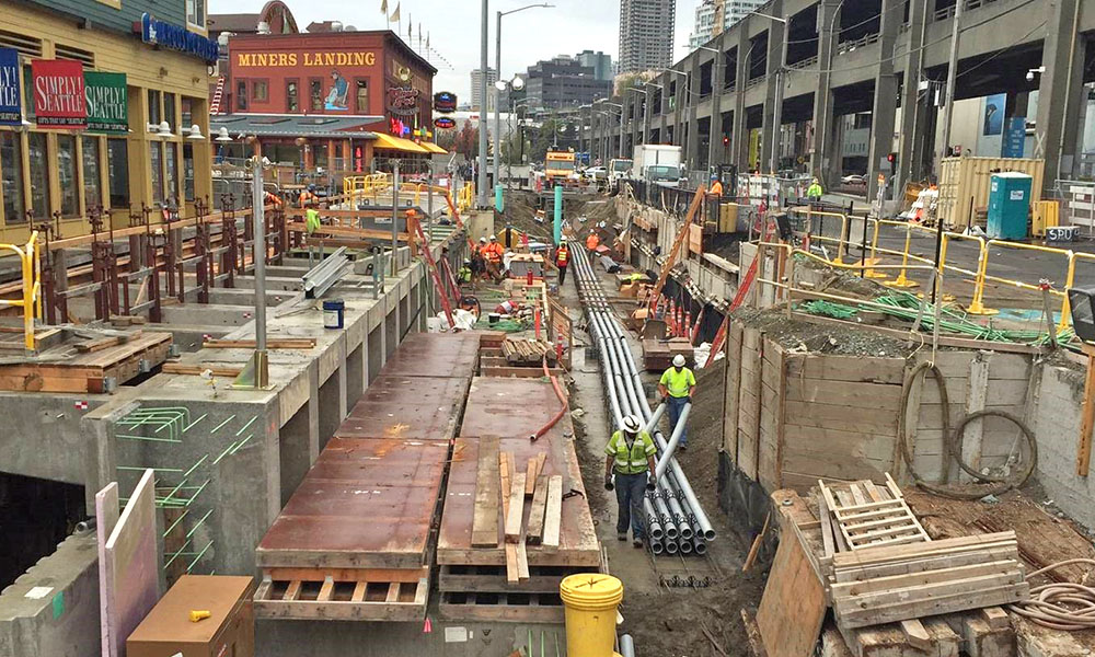 ELLIOTT BAY SEAWALL REPLACEMENT , Seattle, Washington  Owner : City of Seattle  Client : Parsons Corporation  Services : Civil and Structural Engineering