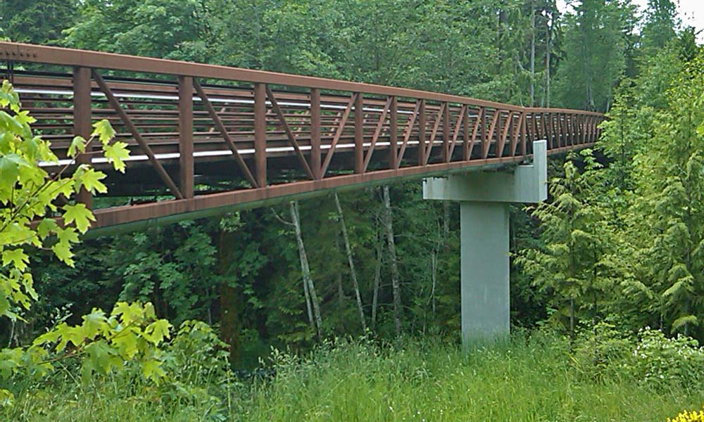 DRY CREEK PEDESTRIAN BRIDGE , Port Angeles, Washington  Owner/Client : City of Port Angeles  Services : Civil and Structural Engineering, Environmental Permitting