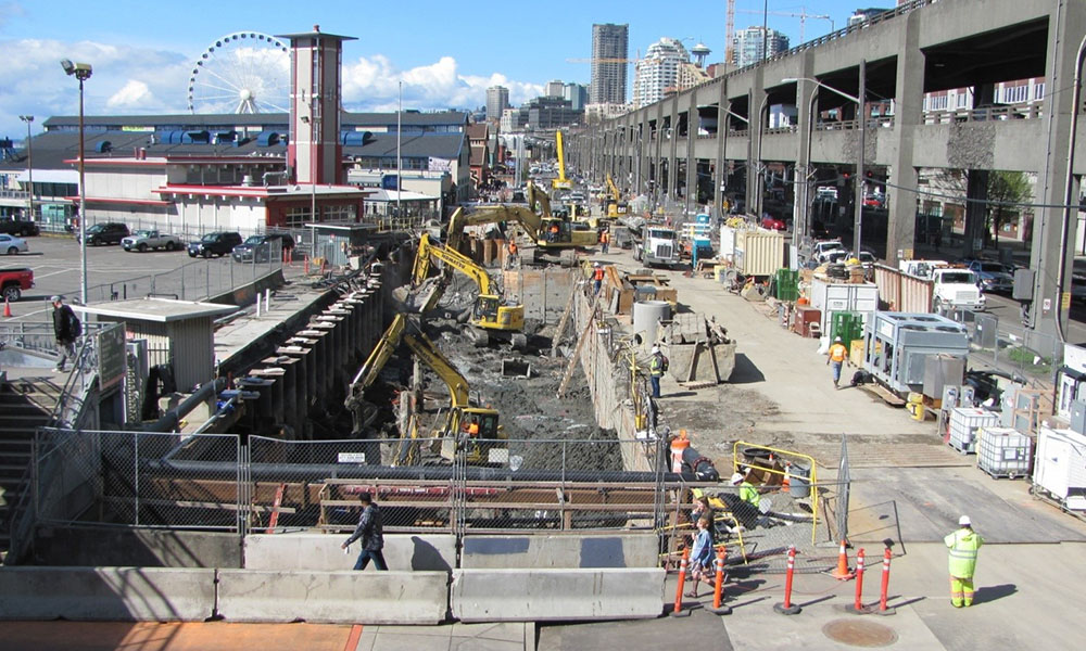 ELLIOTT BAY SEAWALL REPLACEMENT , Seattle, Washington -  Owner : City of Seattle  Client : Parsons Corporation Services: Civil and Structural Engineering