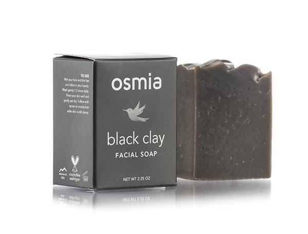 Osmia black Clay facial soap// $24 - Good For: Normal, acne prone, combinationClarifying, balancing