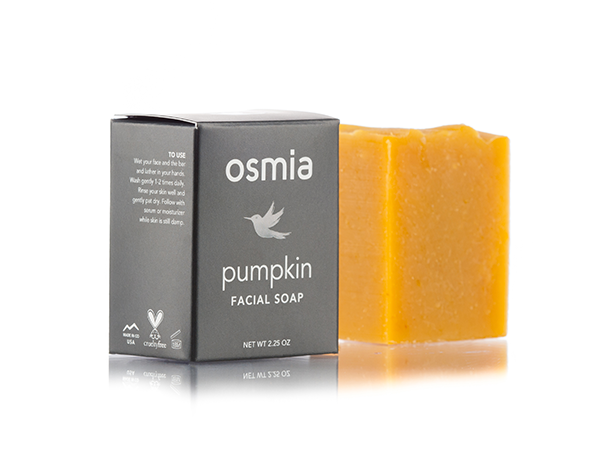 osmia pumpkin facial soap// $24 - Good For: Normal, combination, dehydratedBrightening, mild enzymatic exfoliating