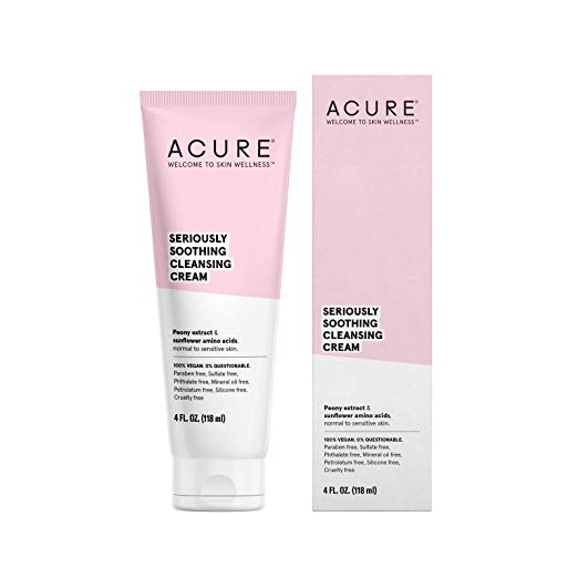 Acure Seriously Soothing Cleansing cream // $10 - Good For: Normal to sensitive skinHydrating, soothing cleansing cream