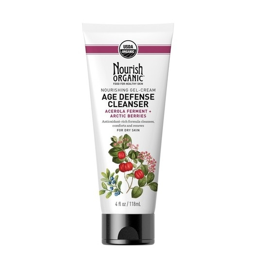 nourish organic age defense cleanser // $15 - Good For: Gracefully aging skinAnti-oxidant rich cleanser