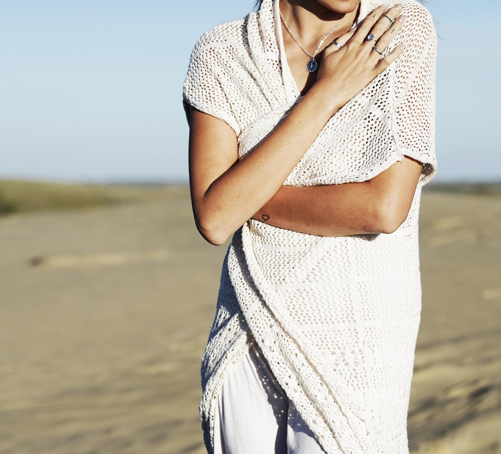 Follow the Sun Charm Necklace. Duster Cardigan: Billabong Women's