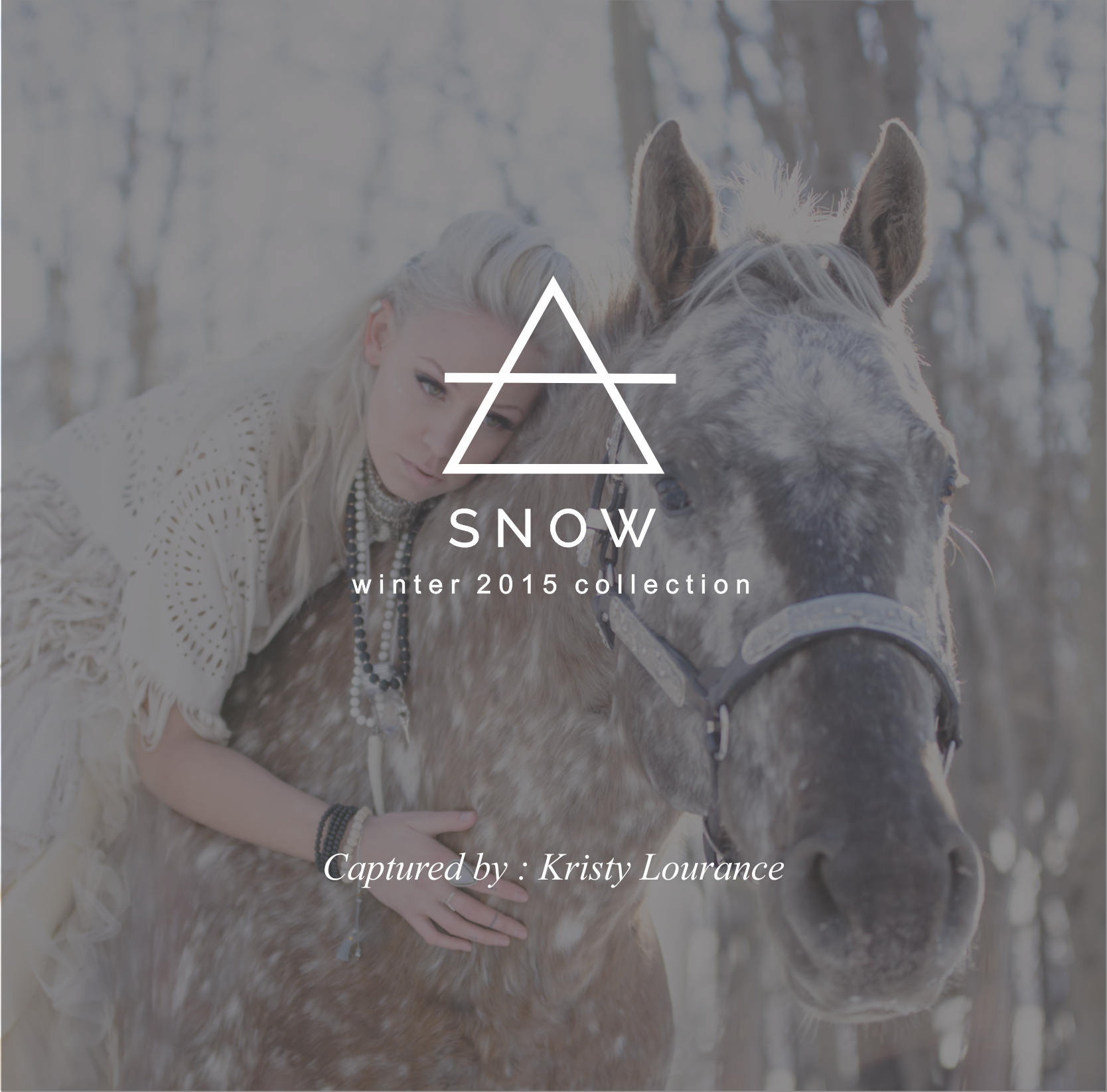Fantasy Inspired Winter Collection 2015    Handmade gowns, heavy knits, sparkly crystals and layers of jewelry, inspired by snow and fairy tales, Kristy Lourance photographs the winter collection perfectly. Oh, and there's a unicorn.