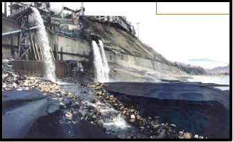Slag discharge from Trail Smelter, 1992