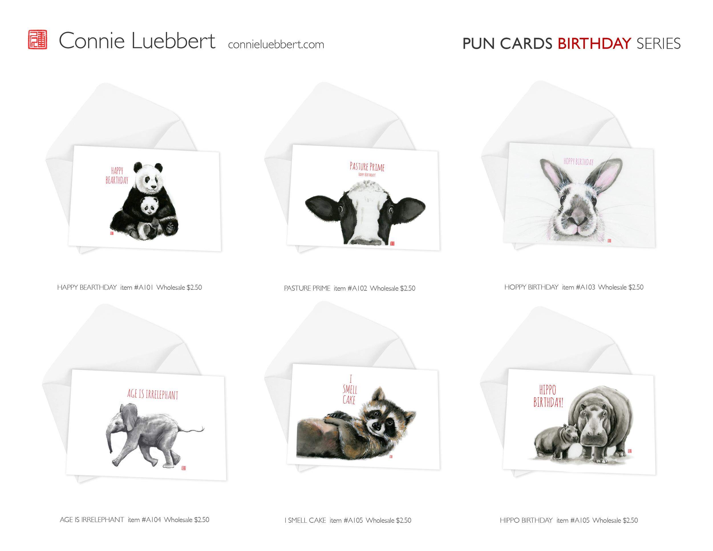 - PUN CARDS: BIRTHDAY SERIES