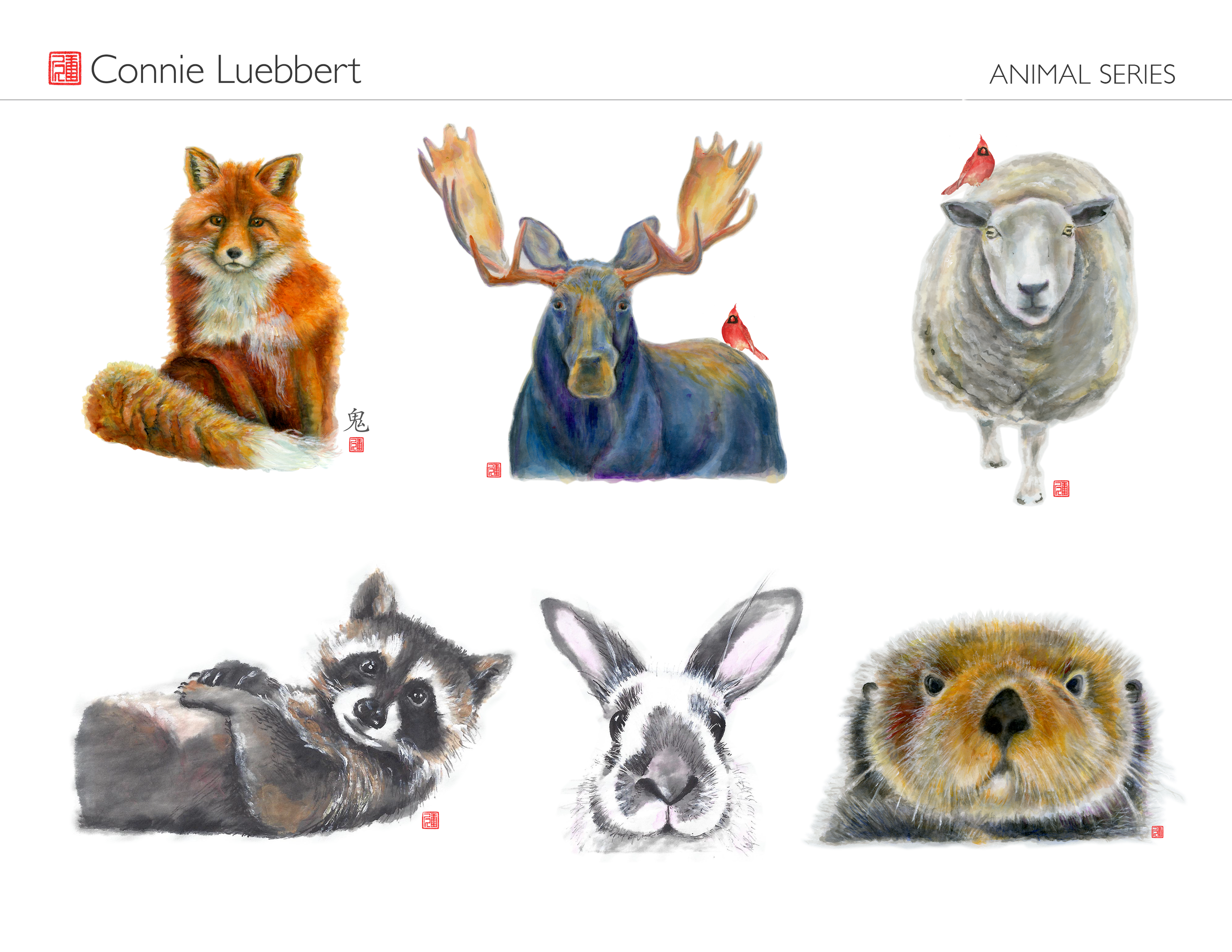 - AMERICANIZED CHINESE BRUSH PAINTING: ANIMAL SERIES …available on canvas, prints, towels