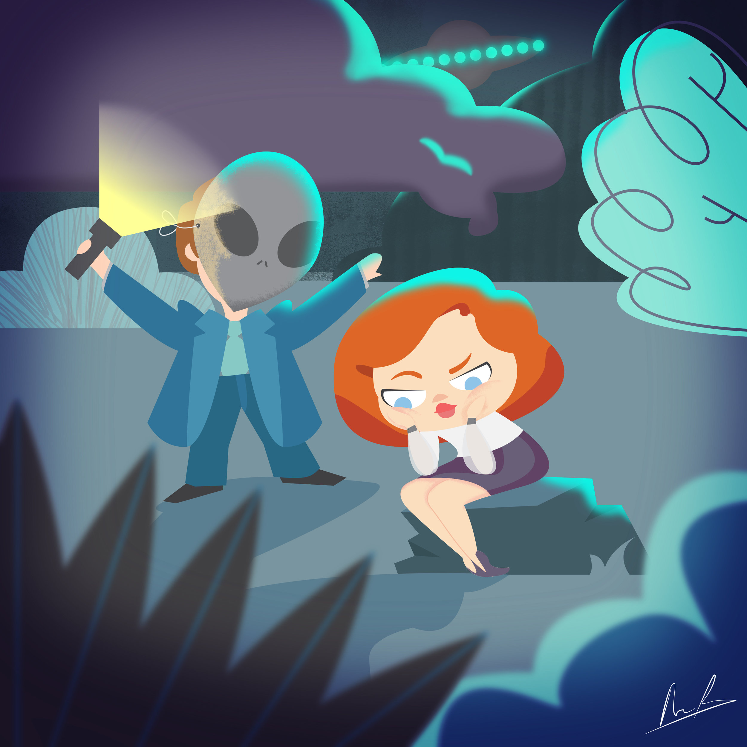 The X-files Illustration Alisa Pavia
