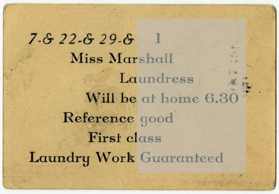 Front and Back of Frank Liberty's Business Card, Boston, ca. 1930