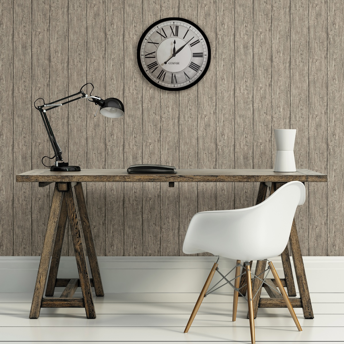 Brewster Chesapeake Outerbanks Grey Faux Wood wallpaper
