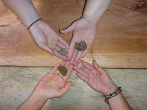 The four women who bonded through travel-- hearts and hands!