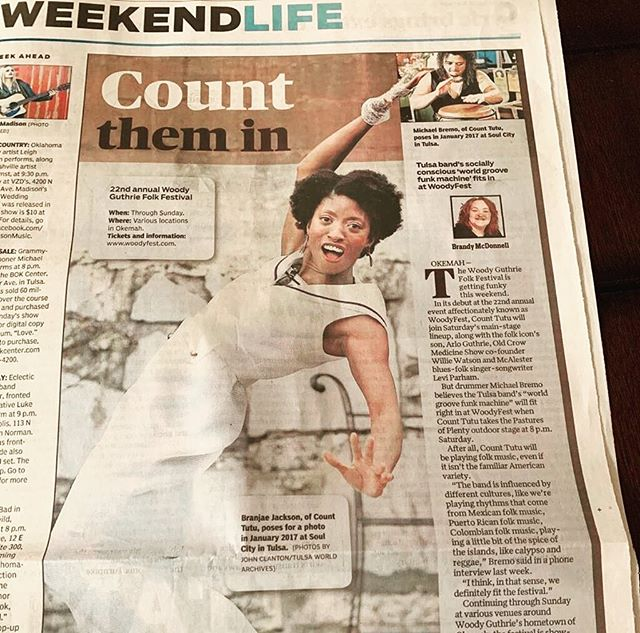 Woody Guthrie Folk festival tomorrow in Woody Guthrie's hometown of Okemah (oh-kee-ma). I heard Arlo will be there. Count us in! @branjaemusic charming this page #counttutu #tulsamusic #oklahomamusic #tulsa #oklahoma #worldmusic #woodieguthrie #woodieguthriefestival #okemah #funk #originalmusic #musicfestival #weekendlife #summer