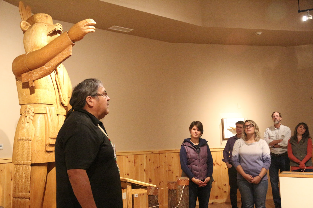 Mr. Dave Grignon at the Menominee Cultural Museum as the Fellowship Program is hosted by the Menominee Indian Tribe of Wisconsin.
