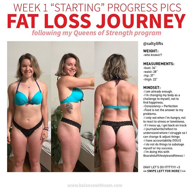 LET THE FAT LOSS BEGIN! 🤪👏🏼 My starting pics & measurements are in.. and over the next 8 weeks, I'm going to walk you thru the good, the bad and the ugly. 👹 ⁣⠀ After releasing our 8 week transformation program (#QueensofStrength), @sarahdufflifestyleandfitness & I decided we are going to do the program & chose fat loss as our goal! ⁣⠀ What I'll be sharing (mostly via STORIES) 👀 how I'm *actually* doing, struggles and all 👀 before/after measurements & pics 👀 my meals & how fun they still are 👀 my fat loss hacks / swaps 👀 ways to manage hunger 👀 ways to drink alcohol / be a social person 👀 ways to accelerate fat loss 👀 my top habits for successfully MAINTAINING fat loss ⁣⠀ I'm kinda excited, kinda nervous, kinda feeling crazZzZzzzzy but all I know is, it's happening! and I have you ALL to keep me and @sarahdufflifestyleandfitness accountable .. sooo LETS GET GOOOO 🤪🤪🤪 ⁣⠀    What is Queens of Strength?? it's an 8 week transformation and confidence building manual 💃🏼 it includes: ▪️2 workout guides (at home & in gym) ▪️1 workout finisher guide (booty & toning) ▪️1 nutrition manual ▪️1 mindset guide ▪️1 lifestyle guide ▪️an 8 week series of videos delivered to your inbox ▪️a downloadable calendar to keep you accountable ▪️access to our Facebook Group & both of us Queens 🥳 ⁣⠀    How do you join all the other women on this journey to confidence and strength?? Click the link in my bio or go to www.queensofstrength.com !!