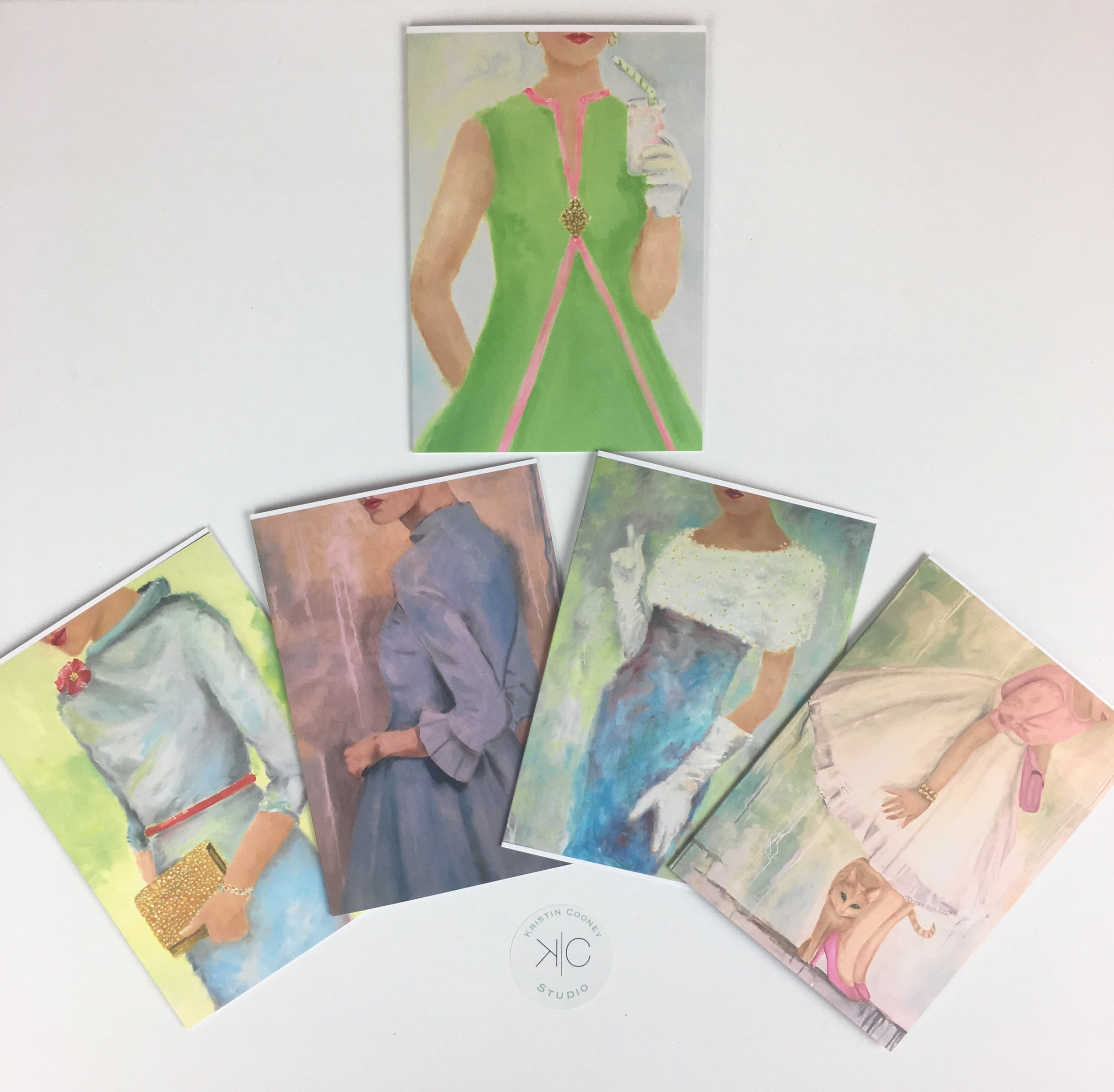 All my favorite Glamorous Ladies are hanging out in this package of 6 cards!