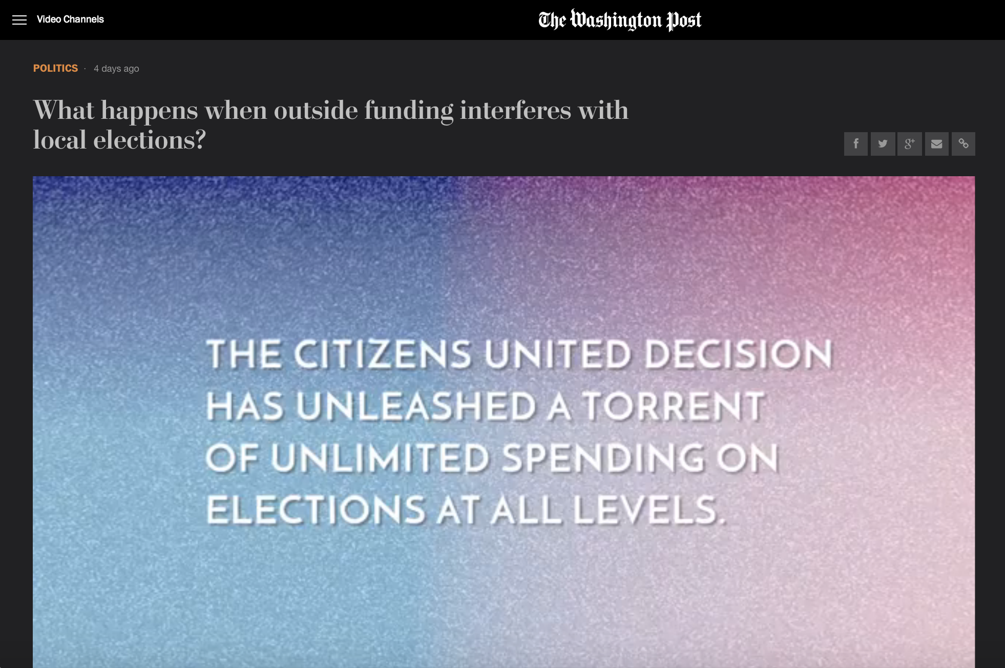 What happens when outside funding interferes with local elections?